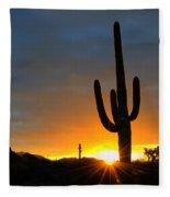 Sonoran Desert Sunrise 4 Fleece Blanket