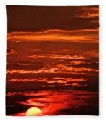 Soothing Saturday Sunset Fleece Blanket