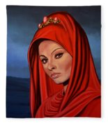 Sophia Loren 2  Fleece Blanket
