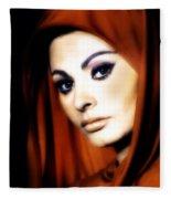 Sophia Loren Fleece Blanket