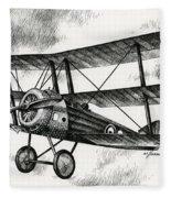 Sopwith Triplane 1917 Fleece Blanket