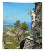 Sorrento Peninsula From Mt Solaro Capri  Fleece Blanket