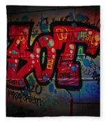 Sot Graffiti - Lisbon Fleece Blanket