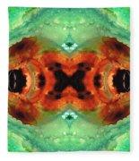 Soul Symphony - Abstract Art By Sharon Cummings Fleece Blanket