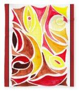 Sounds Of Color Doodle 2 Fleece Blanket
