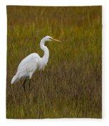 Soundside Park Topsail Island Egret Fleece Blanket