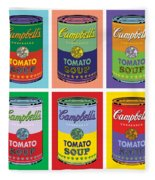 Soup Cans Fleece Blanket