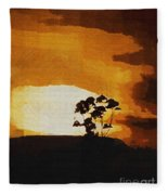 South African Sky Fleece Blanket