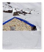 South Annapurna Base Camp - Nepal 04 Fleece Blanket