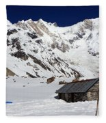 South Annapurna Base Camp - Nepal 05 Fleece Blanket