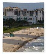South Beach Afternoon Fleece Blanket