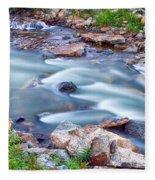 South Boulder Creek Little Waterfalls Rollinsville Fleece Blanket