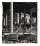 South Bronx Shanty Shacks - New York Fleece Blanket