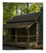 South Carolina Log Cabin Fleece Blanket