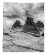 South Coyote Buttes Monochrome 1 Fleece Blanket