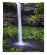 South Falls - Silver Falls State Park - Oregon Fleece Blanket
