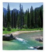 South Fork Payette River Grandjean Fleece Blanket