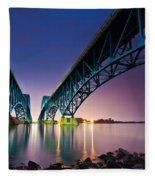 South Grand Island Bridge Fleece Blanket
