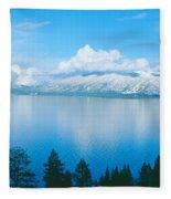South Lake Tahoe In Winter, California Fleece Blanket