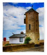 South Lookout Tower Aldeburgh Beach Fleece Blanket