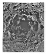South Pole Of Moon  Fleece Blanket