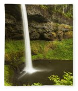 South Silver Falls 3 Fleece Blanket