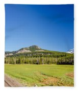 South Sister And Highway Fleece Blanket