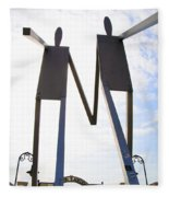 South Street Stick Men Statue Fleece Blanket