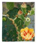 South Texas Prickly Pear Fleece Blanket