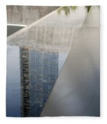 South Tower Reflections Fleece Blanket