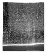 South Tower Water In Black And White Fleece Blanket