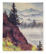 Southeast Alaska Fleece Blanket
