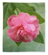Southern Camellia Flower Fleece Blanket