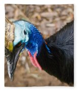 Southern Cassowary Portrait Fleece Blanket