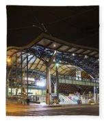 Southern Cross Rail Station In Melbourne Australia Fleece Blanket