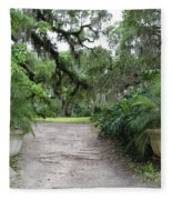 Southern Garden Welcome Fleece Blanket