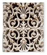 Southern Ironwork In Sepia Fleece Blanket