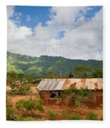 Southern Kenya Poverty Landscape Fleece Blanket