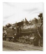 Southern Pacific Steam Locomotives No. 2847 2-8-0 1901 Fleece Blanket