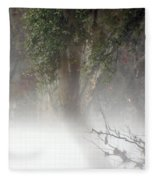 Southern Trees Have Curves Fleece Blanket