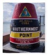 Southernmost Point Marker Fleece Blanket