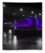 Southwark Bridge London Fleece Blanket