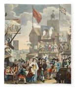 Southwark Fair, 1733, Illustration Fleece Blanket
