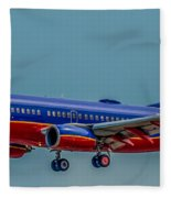 Southwest 737 Landing Fleece Blanket