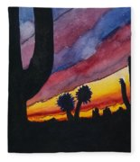 Southwest Art Fleece Blanket