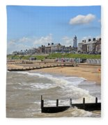 Southwold Beach 2 Fleece Blanket