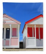 Southwold Beach Huts Fleece Blanket