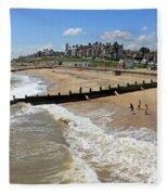 Southwold Beach Fleece Blanket