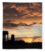 Water Towers On Southwold Common Fleece Blanket