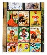 Souvenir Copies Of Old Spanish Fleece Blanket